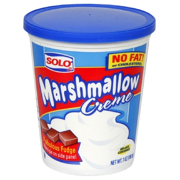 Solo Marshmallow Creme, 7 OZ Tubs (Pack of 12)