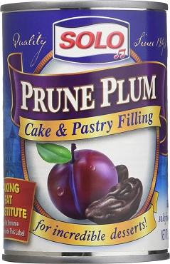 Solo Prune Plum Cake & Pastry Filling, 12 OZ (Pack of 6)