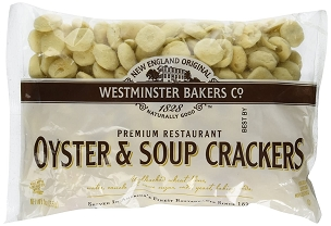 New England Original Westminster Bakeries Oyster and Soup Crackers , 9 Oz Cello Bags,  Case of 12