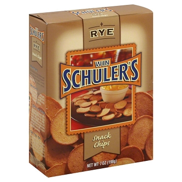Win Schuler's Natural Rye Bar Chips, 7-Oz Boxes (Case Pack of 12 Boxes)