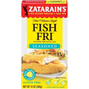 Zatarain's Seasoned Fish Fri, 12 oz, Case of 8 Boxes