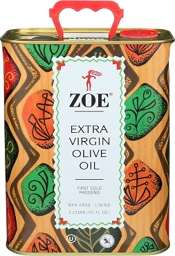 ZOE Extra Virgin Olive Oil Tin, 3 Liter(101.4 Ounce)