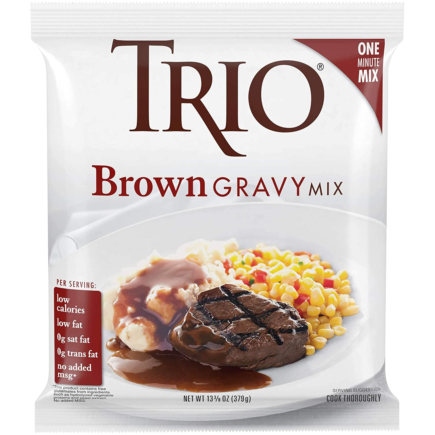 Trio Brown Gravy Mix, 13.37 Ounce -- 8 Packet Case.