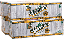 Vernors Sugar Free Ginger Ale soft drink soda pop, 12 Oz Cans, 24 Ct.