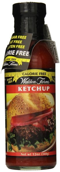 Walden Farms Sugar Free Zero Calorie Ketchup, 12 Oz (6 Pack)