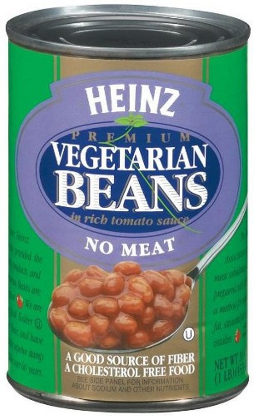 Heinz Vegetarian Beans in Tomato Sauce, 16 oz Can, Pack of 8 Cans
