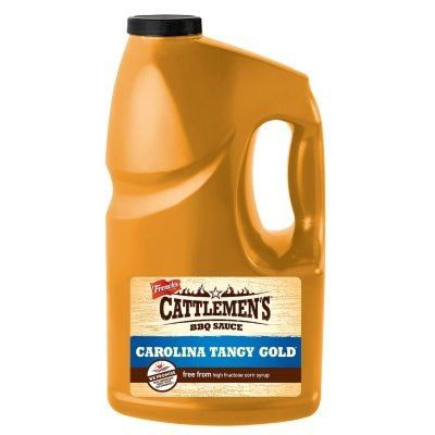 Cattleman's Carolina Tangy Gold BBQ Sauce, 1 Gallon Jug, 2 Pack Case