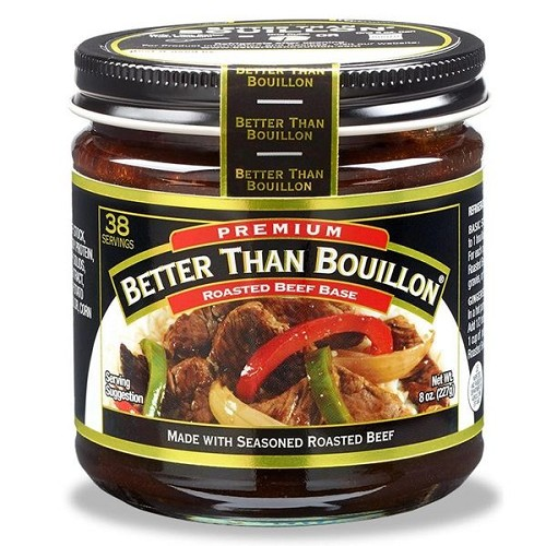 Better Than Bouillon Roasted Beef Base 8 oz, Case of Six Glass Jars