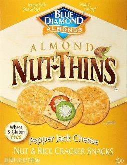 Blue Diamond Pepper Jack Artisan Nut Thins, 4.25 oz, Case of 12