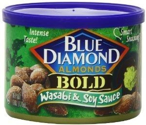 Blue Diamond Wasabi & Soy Almonds, 6 Oz Cans, 12 Pack