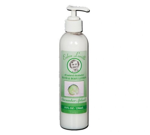 Cucumber Splash Lotion with Shea Butter Handmade Lotion by Edna Lucille, 8 oz Pump 4 Pac