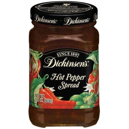 Dickinson's Hot Pepper Spread 9.5 Oz Pack of 6 Glass Jars