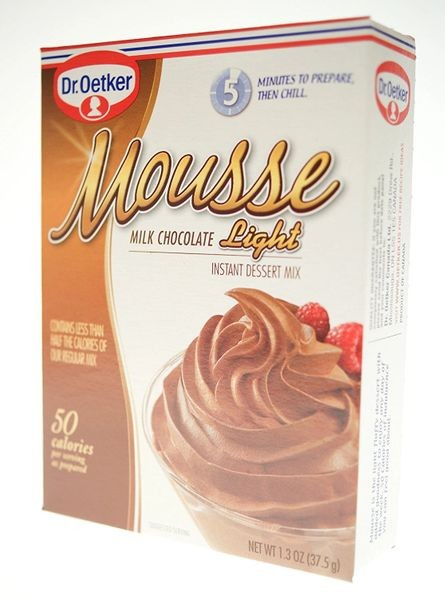 Dr. Oetker Milk Chocolate Mousse - Light, 1.3 Oz (Pack of 12 Boxes)