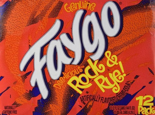 Faygo Rock & Rye Soft Drink-12 oz cans - 12 Pack