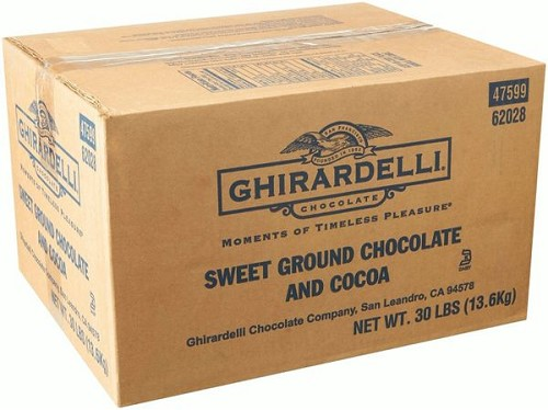 Ghirardelli Sweet Ground Chocolate and Cocoa Powder, 30 LB Bulk