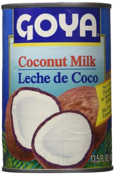 Goya Foods Unsweetened Coconut Milk, 13.5-OZ cans(Pack of 12)