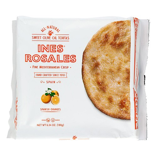 Ines Rosales - Seville Orange Olive Oil Tortas   - Pack of Five - 6.34 Oz Packages