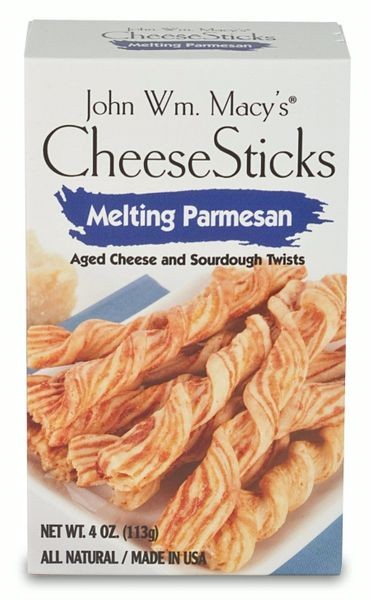 John Wm. Macy's Melting Parmesan CheeseSticks, 4-Oz (Pack of 12)