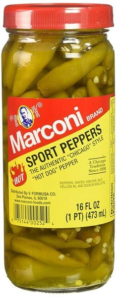 Marconi Authentic Chicago Style Hot Sport Peppers