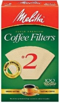 Melitta Natural Brown #2 Cone Coffee Filters