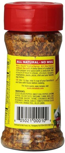 Mrs. Dash Extra Spicy Seasoning Blend, 2.5 Oz (Pack of 6)