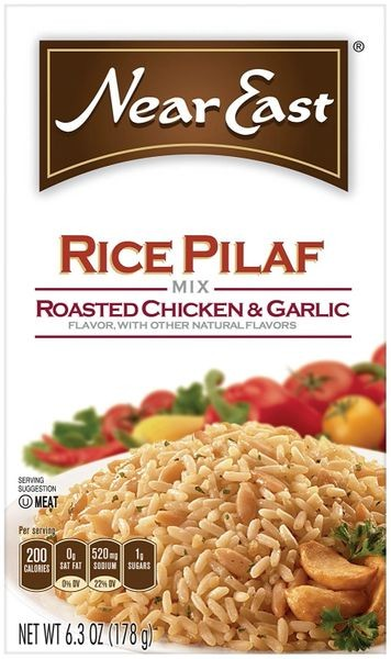 Near East Roasted Chicken & Garlic Rice Pilaf Mix,, (Pack of 12)