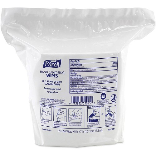 Purell 9517-950 Hand Sanitizing Wipes Refill