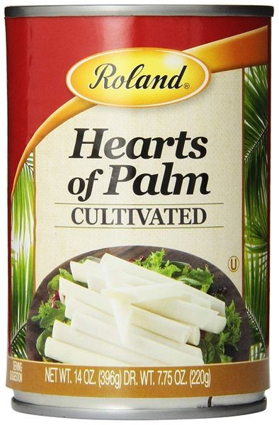 Roland Hearts of Palm, Cultivated, 14 Oz, Pack of Six Cans