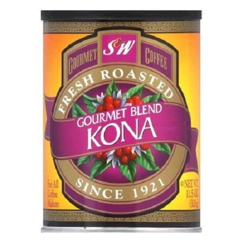 S & W Coffee, Fresh Roasted & Ground, Gourmet Kona Blend