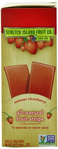 Stretch Island Summer Strawberry Original Fruit Leather